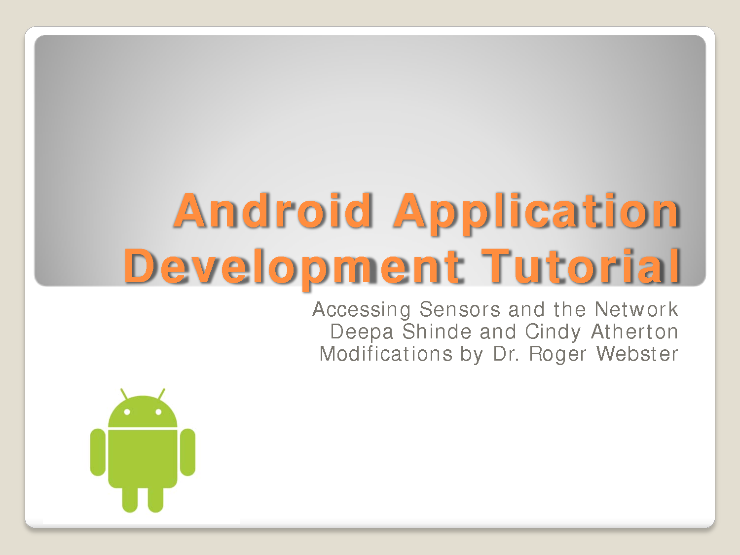 Simple Android Development Tutorial