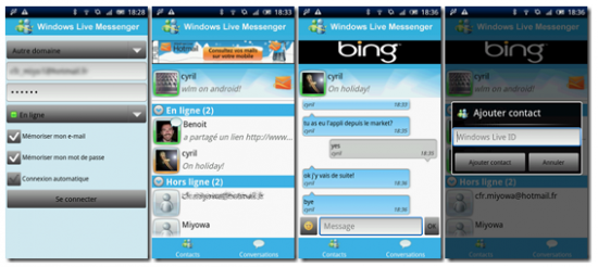 Bing Android Messenger