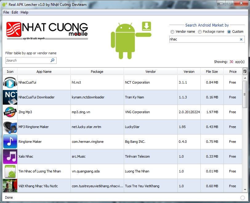 Nhat Cuong Free Android Downloads