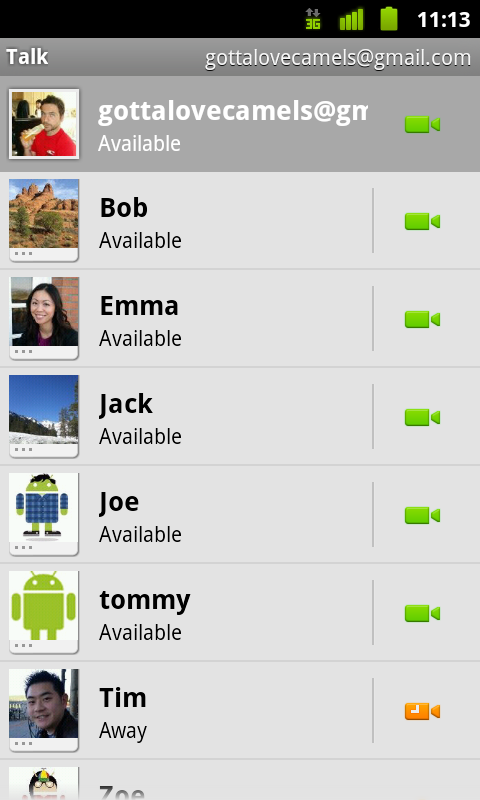 Useful Gtalk Android